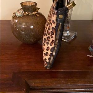 Italian leather and cow leather print animal print